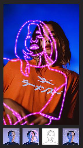 Instasquare Photo Editor: Drip Art, Neon Line Art android-1mod screenshots 1