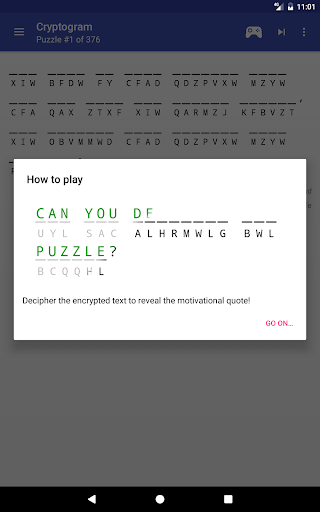 Cryptogram - puzzle quotes  screenshots 13