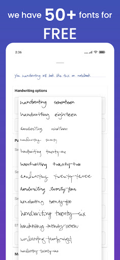Handwriter - Text to Assignments, Essays, Letters android2mod screenshots 6