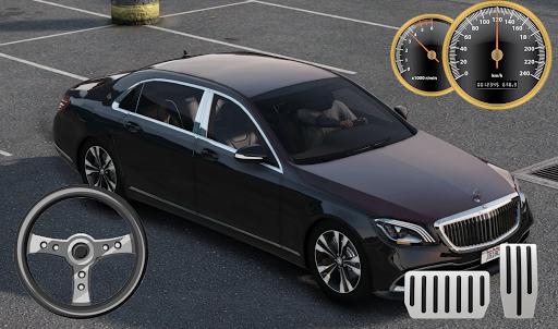 car driving mercedes maybach parking screenshot 2