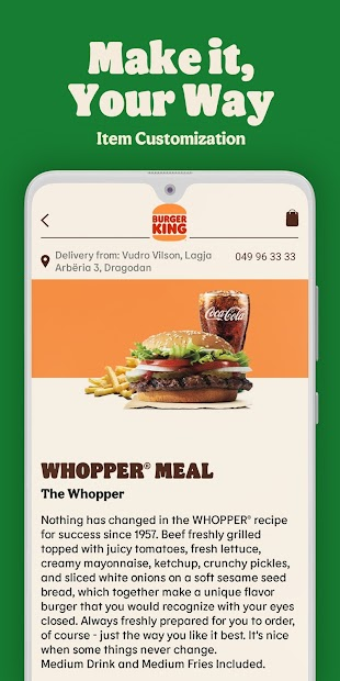 Burger King® Kosova screenshot 2