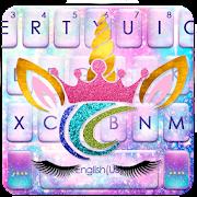 Sweetie Unicorn Galaxy Keyboard Theme