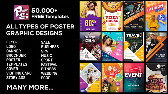 Poster Maker, Flyer, Banner Maker, Graphic Design Screenshot