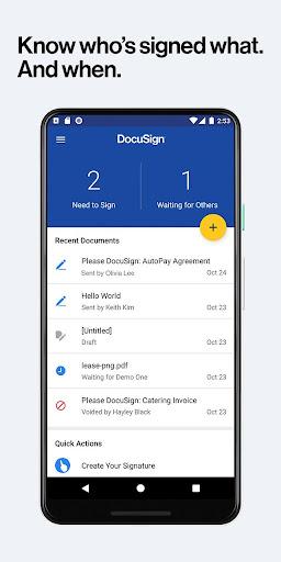 DocuSign - Upload & Sign Docs android2mod screenshots 3