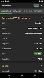 WiFi Monitor Pro: analyzer of Wi-Fi networks MOD (Paid) 1
