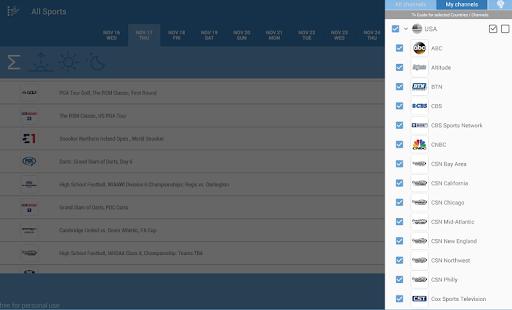 Live Sports TV Listings Guide 2.92 Screenshots 6