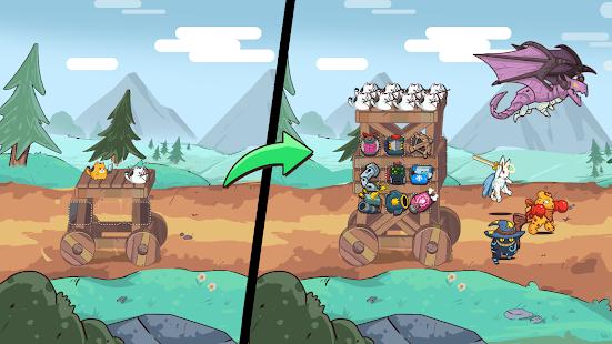 Cat'n'Robot: Idle Defense - Grow Castle TD Battle 3.5.2 Screenshots 1