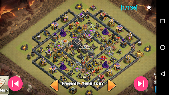 War layouts for Clash of Clans 1.4.1 screenshots 3