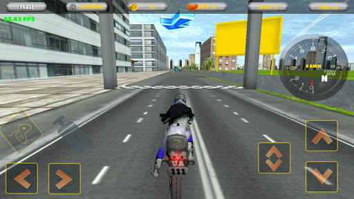 city motorbike racing screenshot 2