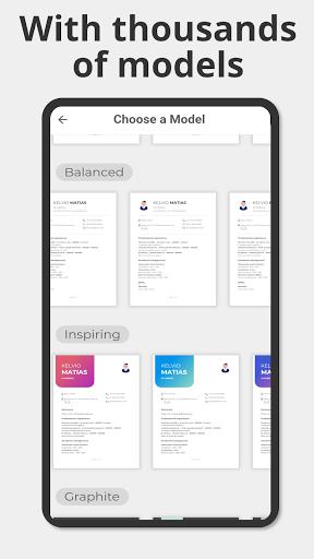 Make CV in PDF - Free Curriculum Vitae android2mod screenshots 3