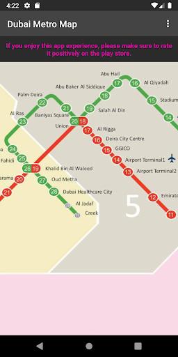 dubai metro map screenshot 3