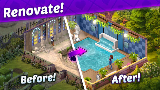 Solitaire Story - Ava's Manor: Tripeaks Card Game 24.0.0 Screenshots 2