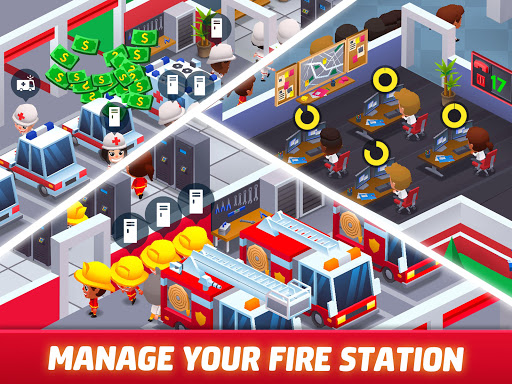 Idle Firefighter Tycoon - Fire Emergency Manager apktram screenshots 17