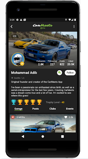 CarMeets - The Ultimate Car Enthusiast App  Screenshots 2