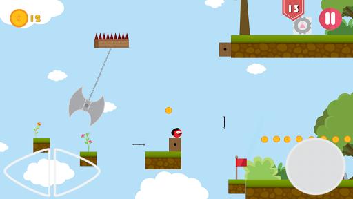 Super Red Jump Ball Mr Mustache 2.3 screenshots 1