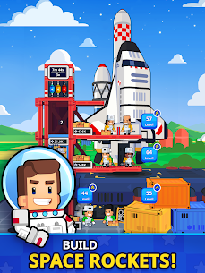 Rocket Star MOD APK- Idle Space Factory Tycoon (Unlimited Star Coins) 9