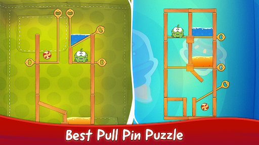 Om Nom Pin Puzzle android2mod screenshots 4