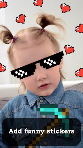 Crazy camera - funny selfie, photo editor android2mod screenshots 2