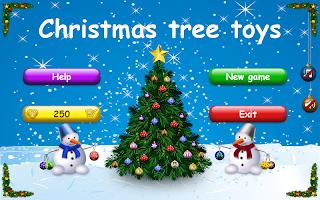 Christmas tree toys. Happy New Year 2020. Mahjong