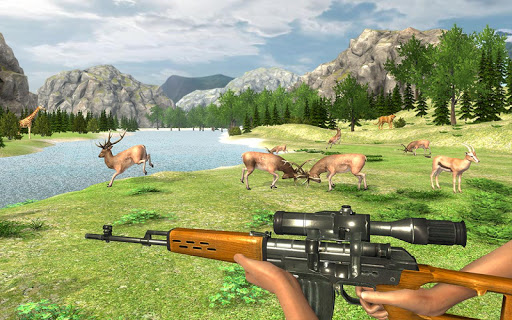 Real Jungle Animals Hunting - Free shooting game android2mod screenshots 2
