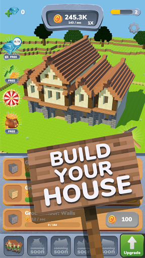 House Craft 3D - Idle Block Building Clicker 1.2.0 screenshots 10