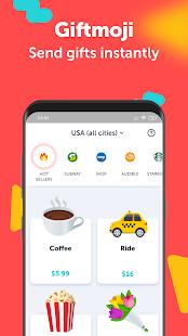 Giftmoji - Send gifts instantly 3.9.2 APK screenshots 1