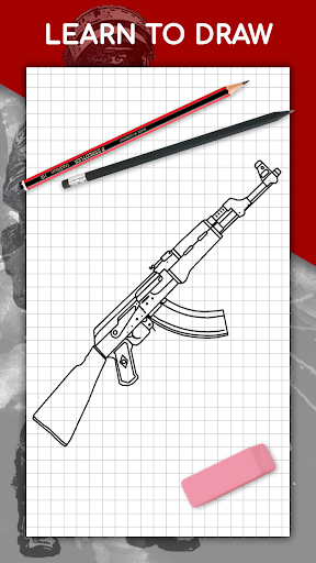 How to draw weapons step by step, drawing lessons  screenshots 1