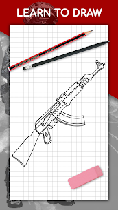 How to draw weapons step by step, drawing lessons 1