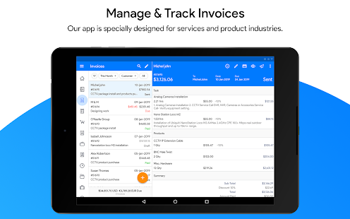 Free Professional Invoice App - Invoice Maker Screenshot