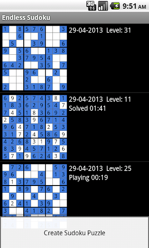 Endless Sudoku Free screenshots 1