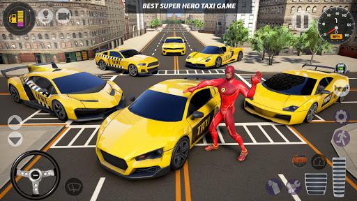 Superhero Taxi Car Driving Simulator - Taxi Games 1.0.2 Screenshots 23