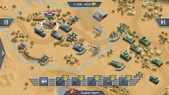 1943 Deadly Desert - a WW2 Strategy War Game screenshots 7