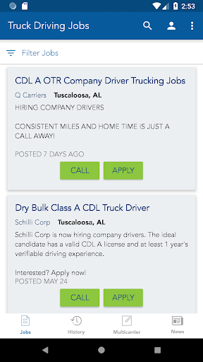 truck driving jobs screenshot 2
