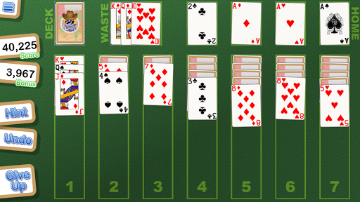 crystal klondike solitaire screenshot 2