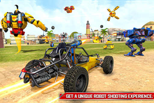 Flying Ghost Robot Car Game apkpoly screenshots 4