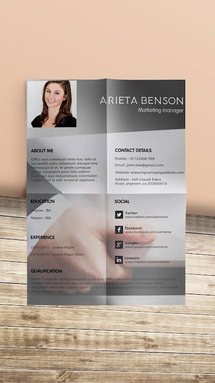 Resume Template, Resume Writer & Cover Letter  poster 2