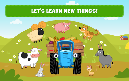 Blue Tractor Games for Toddlers 2 Years Old! Pre K apkmr screenshots 8