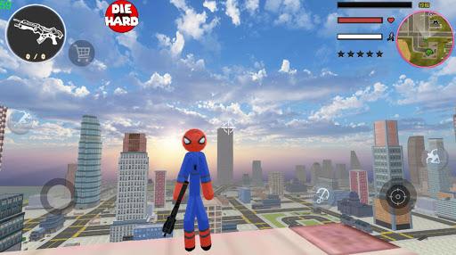 Stickman Spider Rope Hero Gangstar Crime  screenshots 1