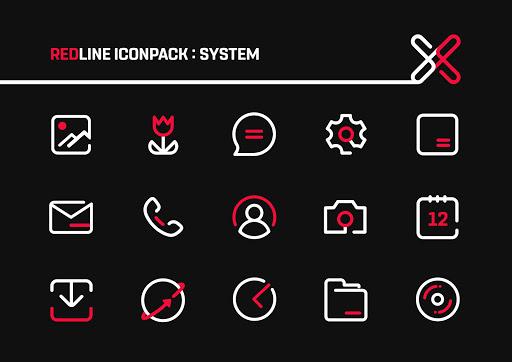 Download APK: RedLine Icon Pack : LineX v3.1 [Patched]