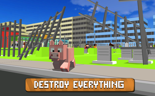 blocky city pig simulator 3d screenshot 2