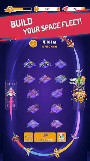 Merge Spaceships - Best Idle Space Tycoon 1.0.5 screenshots 1