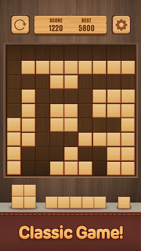 Wood Puzzle Block -Classic Puzzle Block Brain Game 1.5 screenshots 2