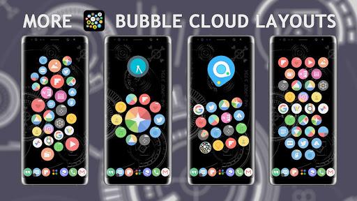 Bubble Cloud Widgets + Folders for phones/tablets apktreat screenshots 2