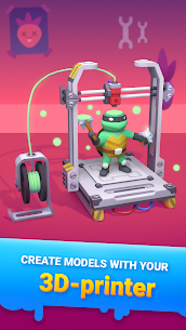 Idle 3D Printer – Garage Business Tycoon Mod Apk 1.4 (Free Shopping) 1
