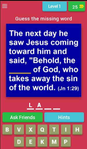 Bible Verse Quiz (Bible Game) apkmr screenshots 1