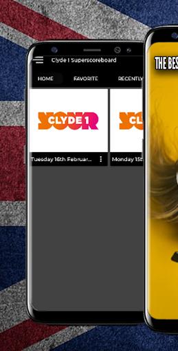 Clyde 1 Superscoreboard Radio UK  screenshots 1