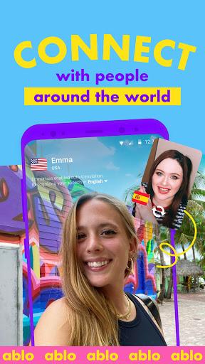 Ablo - Make friends worldwide apktram screenshots 1