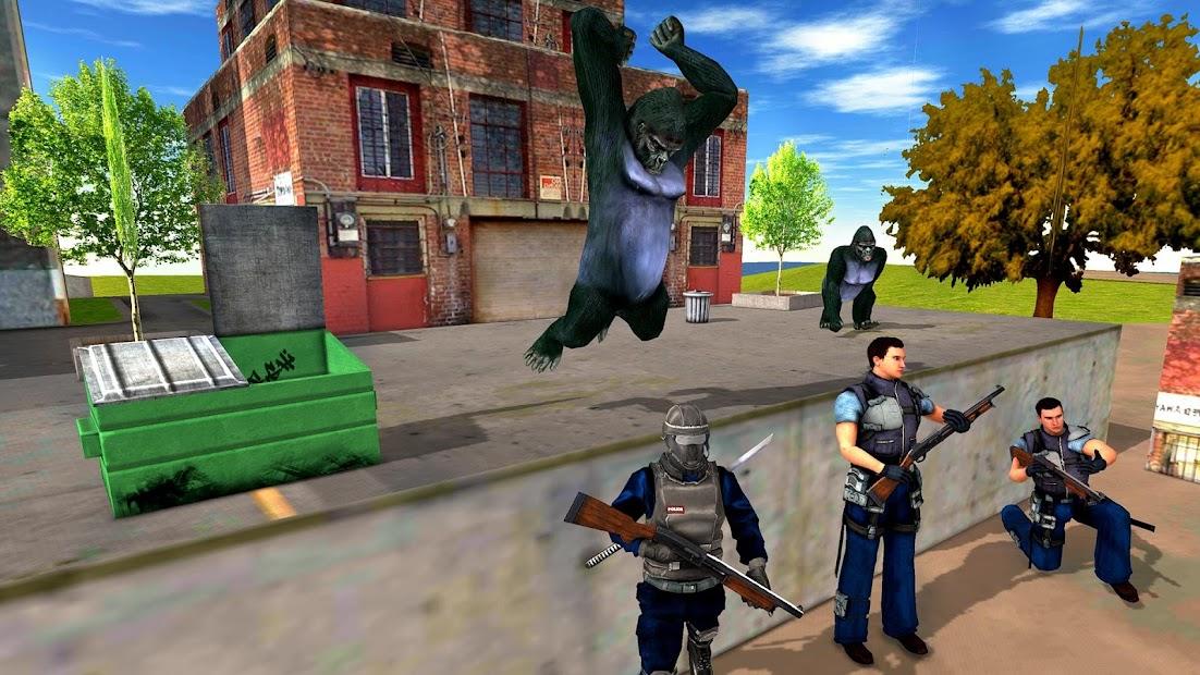 Captura de Pantalla 8 de Ataque de monos enojados guerra de supervivencia para android