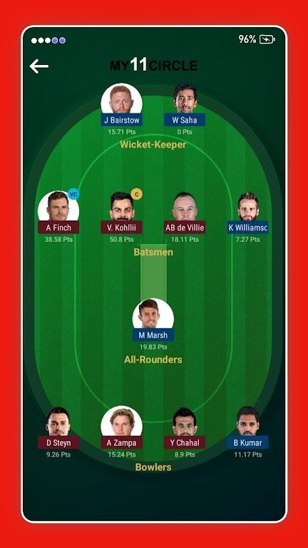 My11 Expert - My11Circle Team & My11 Team Cricket poster 4