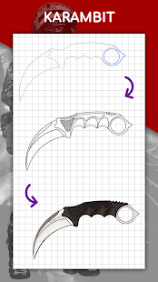 How to draw weapons step by step, drawing lessons 1.6.4 Screenshots 6